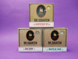 Dr squatch  3 delicious scents! All-natural soap bundle.