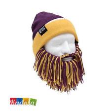 Berretto con BARBA Bicolor Giallo Viola BEARD HEAD Cappello Sci Snowboard  Lakers 9a18638ffb20