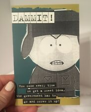 South Park 2007 Blank Postcard Kyle Angry Government Comedy Central