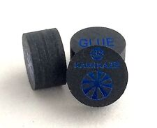 Kamikaze Black Layered Cue Tips  14 MM  (Super Soft) (2 Tips)  Fast Shipping....