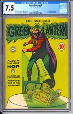 GREEN LANTERN #8   CGC 7.5 VF- WHITE PAGES!  GREAT GREEN LANTERN IMAGE ON COVER!