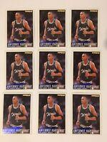 1994-95 FLEER #159 ANFERNEE HARDAWAY RC ROOKIE CARD ORLANDO MAGIC LOT OF 9