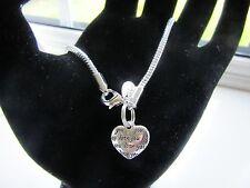 SILVER 925 SNAKE BRACELET I LOVE YOU HEART CHARM IN GIFT BAG