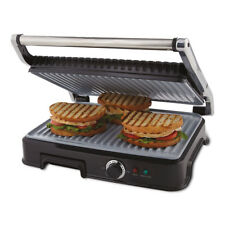 Oster Extra Large Titanium Infused DuraCeramic Panini Maker and Indoor Grill