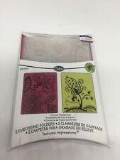 Sizzix 2 x emboss folders - Groovy flowers set