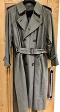 BURBERRYS' Of LONDON Long Double Breasted Trench Coat Removable Wool Lining 36S