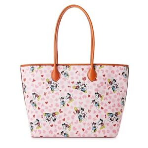 Disney Sweethearts Mickey & Minnie Heart Love Dooney & Bourke Tote Bag Purse