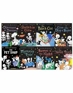 Funny Bones Collection By Allan Ahlberg 8 Books Set Ghost Train, Skeleton New