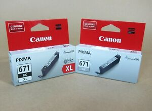 [1323*] CANON 671XL BLACK AND 671 GRAY INKS ( RRP>$56 )