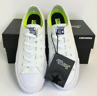 Converse All Star Chuck Taylor II Ox Low Top Lace Up Trainers Sneakers White