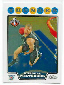 2008-09 TOPPS CHROME BASKETBALL RUSSELL WESTBROOK ROOKIE CARD #184