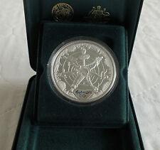 Australia 2000 $5 IL MONDO OLIMPIADI SYDNEY 1 OZ (ca. 28.35 g) .999 ARGENTO PROOF-COMPLETO
