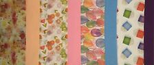 All Occasion Tissue Paper 4 Solid Colors + 4 Prints 20x30 96 sheets gift wrap