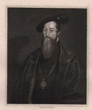 1830 GEORGIAN DATED PRINT ~ THOMAS LORD SEYMOUR OF SUDELEY