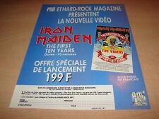 IRON MAIDEN - THE FIRST TEN YEARS!!! PUBLICITE / ADVERT