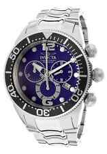 Invicta men's 14196 Lupah Blue Dial Chronograph NO RESERVE FREE SHIPPING