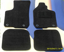 AUDI A4 & S4 2011 on BLACK QUALITY  TAILORED CAR MATS  + 4 ROUND CLIPS B