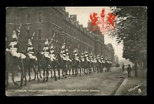 LONDON Heraldic View Knightsbridge Barracks Hore Guards Troop  #2175 early PPC