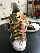 ADIDAS SUPERSTAR 35th ANNIVERSARY LEE QUINONES TRAINERS SIZE 10 UK RARE NEW