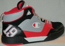 MEN'S CHAMPION CPS10005M  BASKETBALL BLACK/SILVERSTONE/RED  SHOES SIZE 10