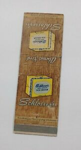 Vintage Schlosser's Oak Grove Vanilla Ice Cream Matchbook Indianapolis Indiana