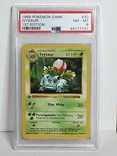 PSA 8 NM-MT 1999 Pokemon Shadowless 1st Edition Ivysaur #30