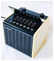 Radio Vintage Mivar Mod. R57 Italy 1977 Würfel Weiß Fm Funktioniert