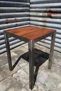 Reclaimed Hardwood Industrial Stools - Oak Teak Iroko