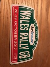 2017 WALES RALLY GB OFFICIAL STICKER Ka 106 St Civic Tool Box Golf Fiesta Track
