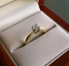 Stunning 18ct Gold And Diamond Solitaire Engagment Ring 0.5ct