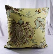 """Floral Pillowcases Pillow Cover Green Cushion Throw Light 16"""" Cases Couch Sofa"""