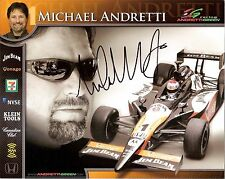 2006 MICHAEL ANDRETTI signed INDIANAPOLIS 500 PHOTO CARD INDY CAR JIM BEAM race