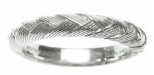 NEW Judith Ripka Sterling Braided Berge Band Ring SIZE 13