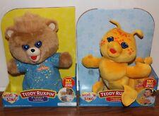 Teddy Ruxpin Bear Grubby Hun N Sing Lullaby Toddler Soft Bedtime Nap Toy Plush