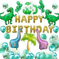 Balloon Set 66PCS Dinosaur Animal Green Theme Baby Happy Birthday Shower