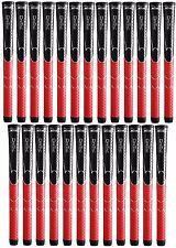 25 x Winn Dri-Tac DriTac AVS Soft Black Red Standard Size Golf Grip 5DT-BRD NEW!