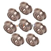 10PCS MF63zz Mini Metal Double Shielded Flanged Ball Bearings (3mmX6mmX2.5mm)
