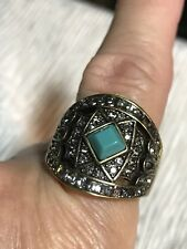 Heidi Daus Ring Turquoise Color Statement Sz.10 *