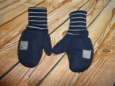 Navy Blue Striped Moose Toddlers Snow Winter Mittens Faded Glory Thinsulate OSFM
