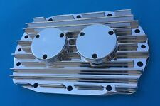 Blower Supercharger Vintage Style Finned Rear Billet Bearing Plate Cover GMC 671