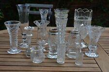 More details for 14 x vintage clear glass vases wedding event table job lot art deco onwards