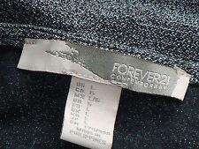 FOREVER21 GreyMarlXoverVneck3/4SleeveCrop SizeL NWoT