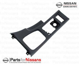 GENUINE NISSAN 1990-1996 300ZX CENTER CONSOLE TRIM FINISHER BLACK NEW OEM