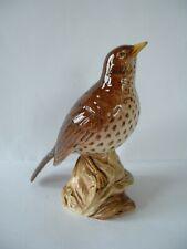 Beswick Bird Figurine  -  Song Thrush  -  Model no. 2308  -  Gloss version