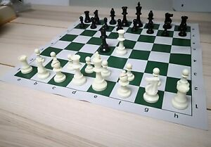 Professional Tournament Chess Set 51x51cm Green-white Board FIDE Standard DCP03G