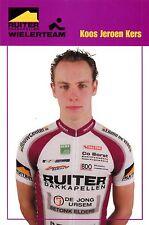 CYCLISME carte cycliste KOOS JEROEN KERS équipe RUITER WIELERTEAM
