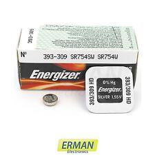 Batteria per orologio Energizer 393 HD 309 LD-SR 48/SR 754 S/W da 1.55V pila 393