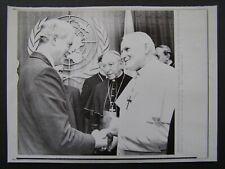 AP Wire Press Photo 1979 Pope John Paul II NY US Sec St Cyrus Vance United Natio
