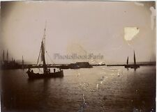 Patras Grèce Voyage en Méditerranée Vintage argentique ca 1900