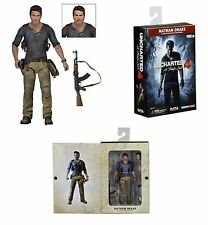"UNCHARTED 4/ NATHAN DRAKE ULTIMATE 18 CM- ACTION FIGURE 7"" NECA WITH BOX"